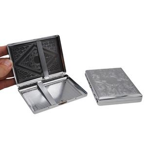 Caja de caja de cigarrillos de 105 mm * 80 mm para tabaco de Blunt Metal con 18 cigarrillos (85 mm * 8 mm) Caja de caja de tabaco con 2 clips Soporte para cigarrillos