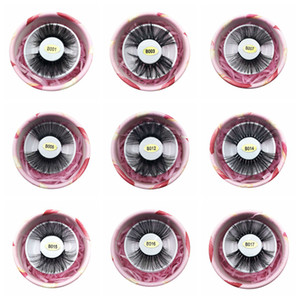 3D Искусственные норковые Ресницы 25мм Ложной норки Ресницы 100% ручная работа Природных Длинный Поддельный Eye Lashes с подарочной коробкой Инструментов RRA1164
