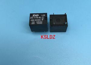 Free shipping lot (10 pieces lot) original New ZD-T78-SL-C-DC05V SRA-05VDC-CL 20A 5PINS Power relay