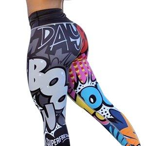 Frauen Digital Printing Leggings Trainingshose mit hoher Taille Push Up Leggins Mujer Fitness Damen-Hosen asiatische Größe