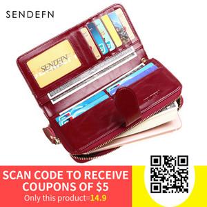 Sendefn vendita calda marca donne portafoglio in pelle borsa femminile lunga signora frizione borsa dei soldi borsa della moneta con cerniera carteira feminina 8002-69 Y19051702