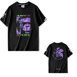 2020 simios camiseta de los hombres carta mono de las mujeres delgadas de manga corta de la moda de estilo de dibujos animados conjunto de camuflaje impresión de estampado