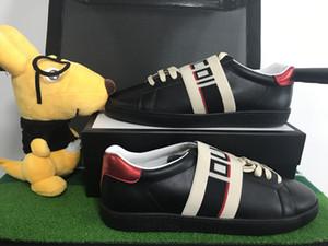 Original Ace Designer Original Bas haut cuir véritable bandage noir confortable et respirant chaussures de loisirs chaussures homme et femme avec la taille 35-46