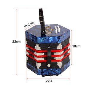 Хорошее качество Егоза Аккордеон 20-кнопочный 40-Рид Anglo Стиль с сумки