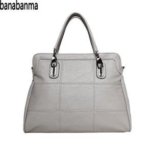 banabanma Leisure Spiraea Women's Soft Leather Work Tote Fashion Single Shoulder Bag Large Capacity PU bags for women 2018 ZK40