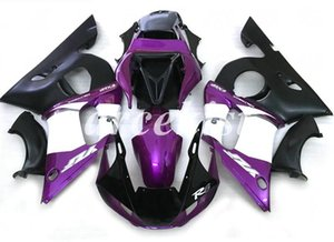 High quality (Injection molding) New ABS Motorcycle Full Fairing Kit Fit For Yamaha YZF R6 1998 1999 2000 2001 2002 Free custom Black Purple