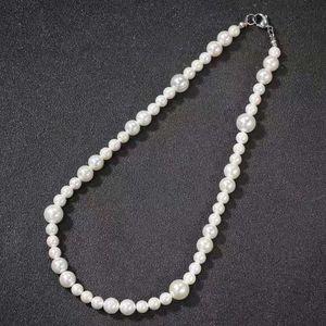 16 18 20 pouces colliers de perles chaîne hommes femmes perles hip-hop de design de luxe perles de nacre collier de perles chaînes cadeau d'amour de bijoux de mariage