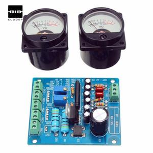 Panel de envío gratuito 2 piezas de plástico + metal VU medidor de luz de fondo cálido Grabación Amplificador de nivel de audio con controlador integrado Circuitos Junta 6.8cmx5.5cm