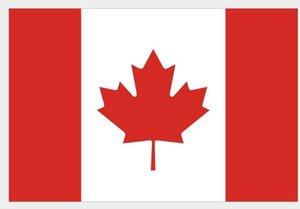 90 cm x 150 cm de alto grado Banderas nacionales de Canadá Banderas canadienses grandes Reino Unido Poliéster Bandera de la hoja de arce de Canadá Banderas al aire libre
