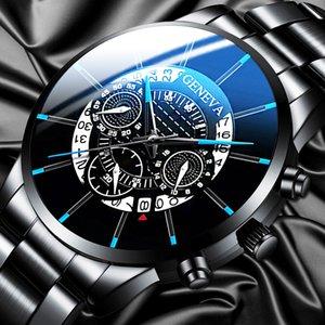Fashion Men Stainless Steel Watch Luxury Calendar Quartz Wrist Watches Business Casual Watch for Man Clock Relogio Masculino