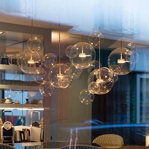 Modern Glass Bubble Pendant Lamp Chandelier Ceiling Light Fixture Decoration for Living room Bedroom kitchen PA0193