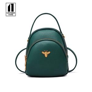 Mini pequeño mochilas de chicas adolescentes mujeres Mochila hombro de las señoras bolsos de cuero de la PU linda bolsa de las mujeres mochila escolar Pequeña abeja