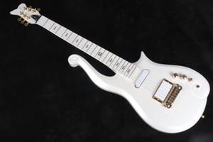 Rare Diamond Series Prince Cloud Electric Guitar Guitar Corpo Older, Neck in Acero, Hardware in oro, Viola Coccodrillo Pelle Hardcase, Trasporto di goccia