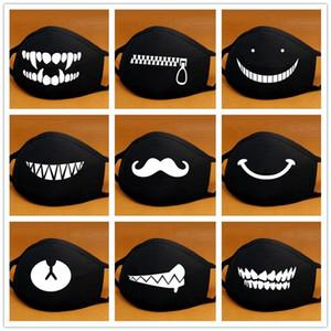 Мультфильм Хлопок маска Рот черный Anti-Dust Анти загрязнение Респиратор маски мода Cute Bear Kpop Animal Face Mouth Маска RRA3194