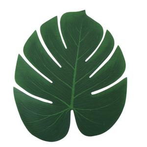 S M L tropicales hojas de palma artificiales hojas de palma hoja de Monstera tropical del partido Decoración Fotografía Hoja Simulación Suministros DBC BH2697