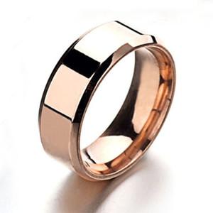 Роскошный большой 8 мм широкий 316 Титановая сталь 18 карат желтого золота покрытием Греческий Ключ обручальное кольцо Кольцо мужчины женщины серебро золото