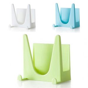 Tenture murale Type support de couvercle de pot Support de stockage de bande double face en plastique à usages multiples en plastique solide populaire avec bleu blanc, vert Couleur 0 89jy J1
