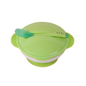 Enfant en bas âge bébé enfants alimentation vaisselle anti-dérapant à deux mains Sucker bol cuillère vaisselle