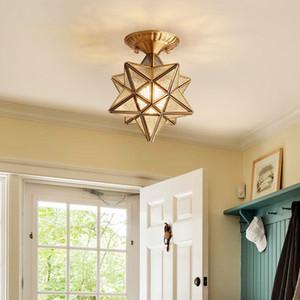 LED Ceiling Light for Living Room Bedroom Modern Golden Star Indoor Lighting Fixture Iron Creative Design Home Decoration Lamp