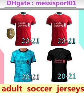 Camiseta de fútbol del Liverpool 2020/2021 chandal de fútbol 2020/21 M. SALAH VIRGIL MANE FIRMINO KEITA MILNER SHAQIRI campeones porteros hombres  de la soccer jersey