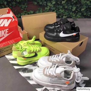 2020 Hava Eğitmenler 24-35 1 Volt Çocuk Marka Boy Kız Sneakers Big Baby Siyah Beyaz Bebek Ayakkabı 2.0 Kapalı Çocuk Zorla