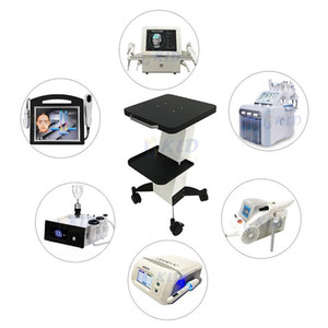 Good quality Beauty Metal Salon Trolley Cart Mobile 4 Wheel good for portable beauty machines such as cavitation, hydra facial, oxygen jet,