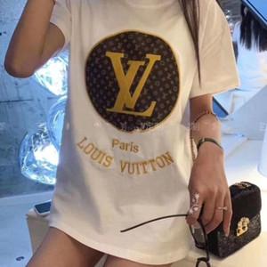 Cotton Cut Doodle-Druck-Frauen-T-Shirt beiläufige O-Ansatz Dame T-Shirt des neuen Entwurfs-Frau T Shirts Siebgedrucktem roten Buchstaben Siebdruck NO. 84