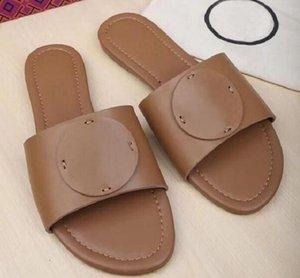 Top Qualität Designer-Zelt Leder Pantoletten Slipper Damen Sandalen Größe 35-41 Sommer-Strand-Schuhe TB Slipper freies Verschiffen