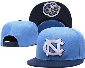 NCAA MMiami uragani Caps UNC 2020 Collegio regolabile Cappelli Tutti Università Snapback in magazzino fiammifero della miscela all'ingrosso Ordine posteriore grigio Rosso 10