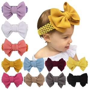 Big Bow Baby Headband Solid Girls Turban Big Knot Head Wrap Girls Headwear Hair Accessories 11 Colors DW5347
