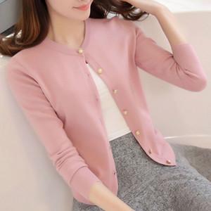 New Spring Summe 2019 uno scialletto sottile rivestimento lavorato a maglia elegante Outerwear donne Cardigan maglione casuale pelo corto femminile