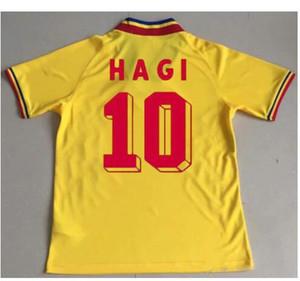 1994 루마니아 축구 유니폼 6 CHIRICHES 10 MAXIM 홈 레드 도로를 멀리 노란 유니폼 (94) 축구 셔츠 유니폼