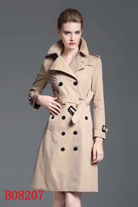 La doppia fila stile di lungo cappotto donne cappotto pulsante trincea in corno di bue indosserà la nuova manica di spalla di vendita caldo nel 2019