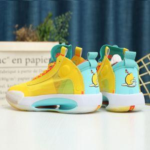 Jayson Tatum 34 Zapatos XXXIV PE azul O baloncesto de los hombres diseñador deporte zapatilla de deporte 34s XXXIV Guo Ailun zoom Rojo explosivamente luz entrenador de atletismo