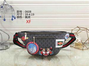 Nueva venta al por mayor patrón de alta calidad cabeza de tigre bolsillos hombres y mujeres de moda retro ocio almacenamiento de viaje teléfono móvil bolsa de Mensajero