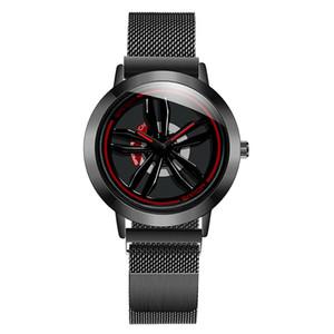Moda sports car relógio de quartzo homens frescos domineering relógios casuais pneu forma relógio à prova d 'água gire relógio de pulso giros de luxo de alta qualidade