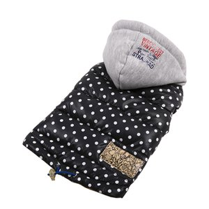 Autumn Winter Warm Pet Clothes For Small Dogs Waterproof Hooded Puppy Pet Coat Jackets Polka Dot Chihuahua Pug Clothing Overalls
