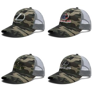 Unisex Lexus Logo Adjustable Trucker Cap Dad Fitted Popular Fashion Baseball Hat 3D effect flag lexus suv logo black camouflage used car