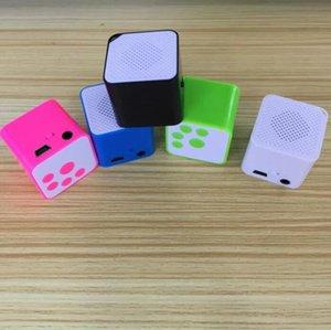 Tragbare Mini-Lautsprecher-Klein Klein-Lautsprecher externe Soundkarte MP3 quadratischer Block Voice Player Mp3 Sports Walkman EL386 Freies Verschiffen