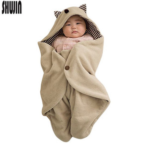 Shujin Adorable Baby Sleeping Bag Spring Autumn Newborn Baby Tissue Swaddle Wrap Nest for Little Boy 0-1Y Soft Sleeping Bag