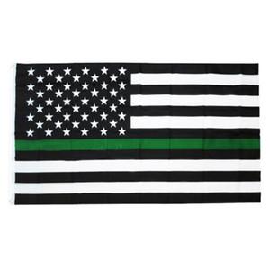 أعلام 6Styles الخط الأزرق الشرطة USA 3x5Fts رقيقة الخط الازرق USA العلم الأسود الأبيض والأزرق العلم الأميركي لضباط الشرطة GGA3465-5
