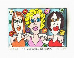 A022 # Джеймс Рицци - ДЕВУШКИ БУДЕТ GIRLS Home Decor расписанную HD Печать Картина маслом на холсте Wall Art Canvas картинки 191221