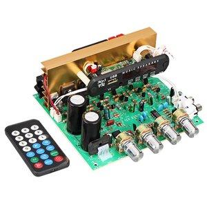 Bluetooth Amplificador Junta 80W 2.1 Subwoofer Amplificador Junta canal de audio Con Aux Fm Tf U disco de cine en casa de bricolaje