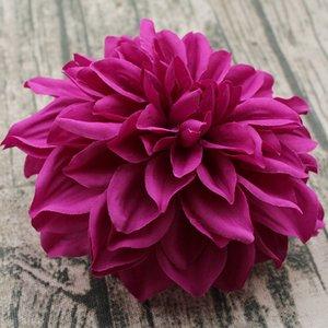 (rojo púrpura naranja champagn blanco rosa) 15cm grandes cabezas de flores de seda cabezas de dalia artificial para hacer guirnaldas de puertas o paredes de flores