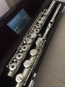 MURAMATSU Flöte DS Flöte Flöte-b Fuß / c # Trill / split E-herrliche Aufführung Musikinstrument Kupfer-Nickel-Silber überzogene Flöte mit Fall