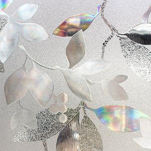 Transparent Window Film estática decorativa Kitchen Cling Vidro Etiqueta 3D Tulip Home Office Privacidade PVC Não cola Sunscreen