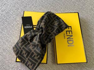 высокое качество горячей продажи с коробкой женщина оголовье моды шарф ретро перекрестие полос люксовых брендов оголовье с бирками и след оголовьем