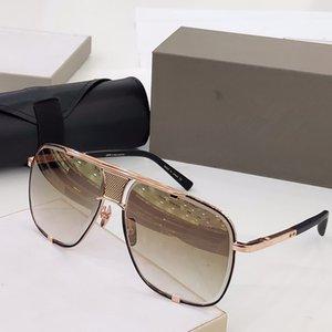 cinque uomini occhiali da sole classici di design d'epoca in metallo stile di moda MACH occhiale outdoor cornice quadrata UV 400 lenti con il caso di alta qualità