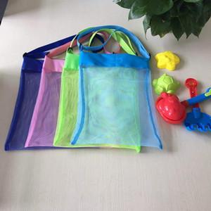 Çocuk Plaj Çantası Çocuklar Açık Kum Dışarıda Mesh Oyuncak Organizatör Bez Yüksek Kalite Floresan Renkler İyi Kalite Çanta