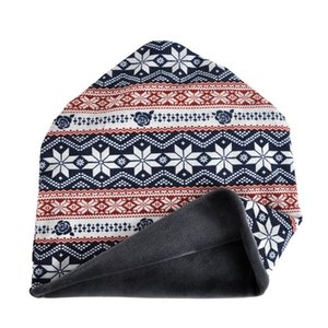 Beanies Caps Scarf Simple Style Snow Printed Windproof Thermal Stretch Cotton Blend Ponytail Hats Neck Warmer    Outdoor Hats